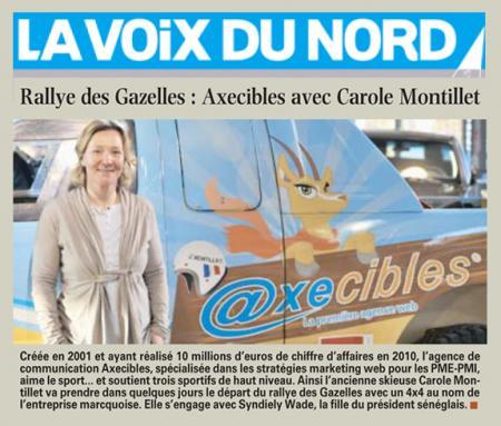 La Voix du Nord - Axecibles avec Carole Montillet (11 mars 2011)