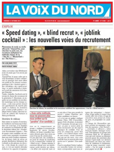 « Speed dating », « blind recrut », « joblink cocktail » : les nouvelles voies du recrutement