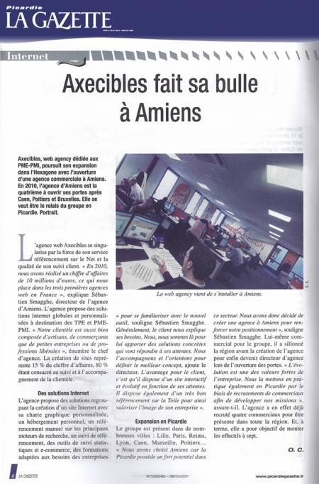 Gazette Picardie - Axecibles fait sa bulle à Amiens (08 mars 2011)