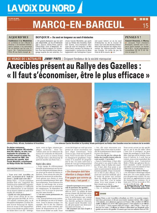 Axecibles présent au Rallye des Gazelles-Voix du Nord - 24 mars 2011